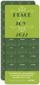 Two Tone Green Calendar Business Holiday Card