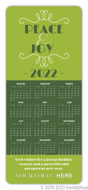 Two tone green calendar business holiday card business holiday cards two tone green calendar business holiday card reheart Image collections