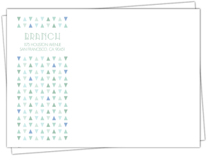 Soft Mint Pattern Custom Envelope