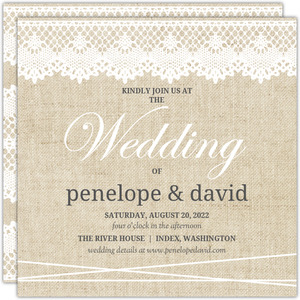 Antique Lace Wedding Invitation