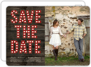 Rustic Marquee Letters Wedding Save The Date Card