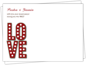 Rustic Marquee Letters Wedding Custom Envelope