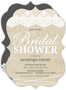 Antique Lace Bridal Shower Invitation