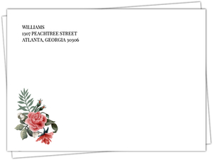 Beautiful Vintage Floral Wedding Custom Envelope