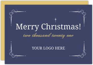 Simple Gold White Christmas Star Business Holiday Invitation