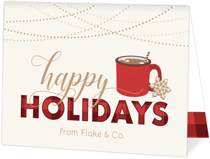 Plaid Happy Holidays Business Holiday Card