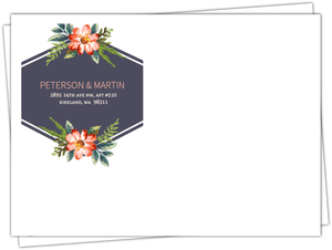 Painted Spring Blossom Custom Envelope