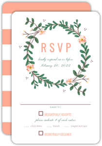 Southern Belle Wedding Response Card