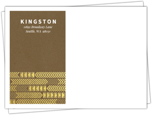 Kraft & Gold Arrow Faux Foil Pattern Wedding Custom Envelope