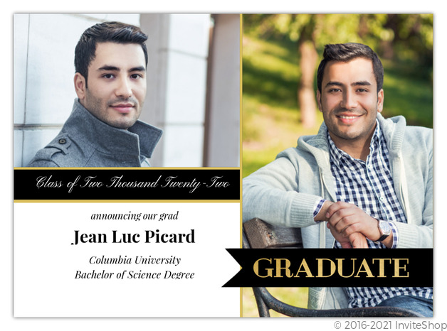 gold and black banner graduation announcement graduation announcements