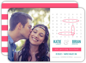 Modern Fun Words Save The Date Announcement
