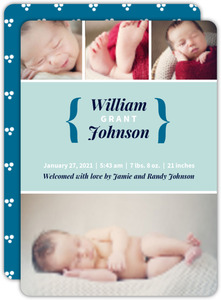 Charming Blue Boy Birth Announcement