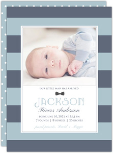 All About Blue Boy Birth Announcement