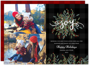 Whimsical Foliage Holiday Photo Card