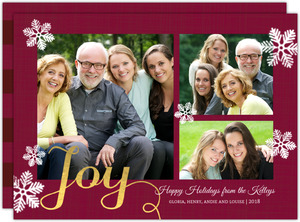 Gold Joy Holiday Photo Card