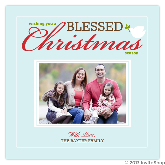 Blessed Christmas Photo Christmas Card Christmas Cards