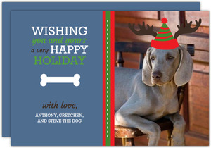 Dog Christmas Wishes  Christmas Card