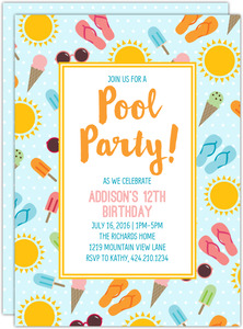 Fun In The Sun Summer Party Invitation