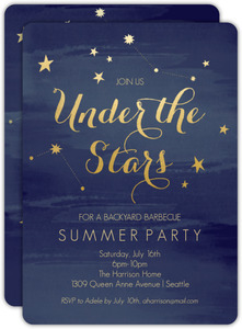 Under The Stars Summer Party Invitation