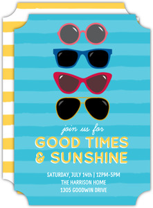 Bright Sunglasses Summer Party Invitation