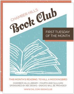 Graphic Retro Book Club Business Flyer