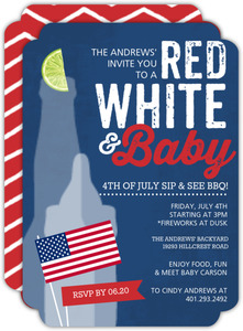 Patriotic Baby Sip and See Party Invitation