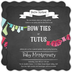 Tutu Cute Gender Reveal Party Invitation
