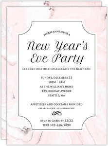 New Years Firewords Holiday Party Invitation