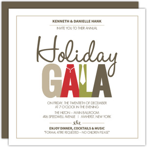 Festive Formal Wear Holiday Party Invitation