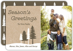 Kraft Forest Scene Holiday Card