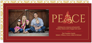 Red Formal Tree Christmas Photo Card