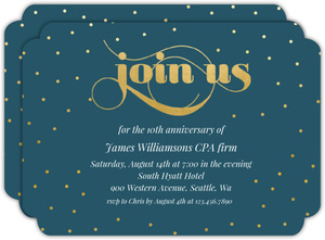 Celebration Dots Business Anniversary Invitation