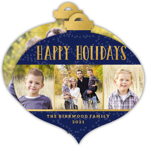 Family Photo Trio Holiday Photo Card