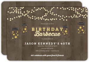 Backyard Lights 40th Birthday Invitation