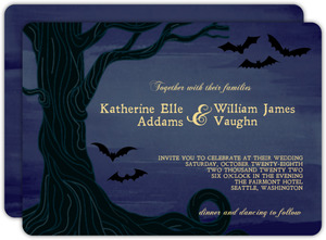 Twilight Sky Halloween Wedding Invite