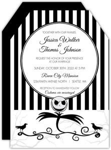Creepy Crow Halloween Wedding Invitation