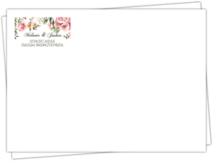 Pink Floral Custom Wedding Envelope