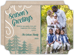 Christmas Trees Holiday Photo Card