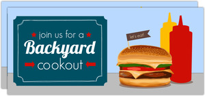Patriotic Backyard Cookout BBQ Invitation