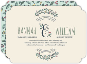 Botanical Ampersand Wedding Invitation