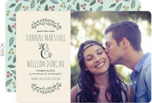Botanical Ampersand Save the Date Announcement