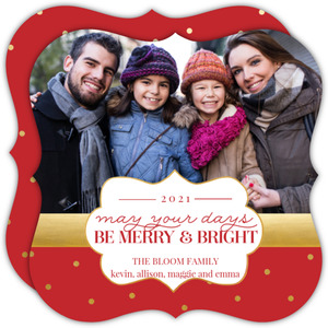 Merry and Bright Dots Christmas Photo Card