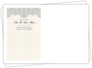 Vintage Gray Lace Wedding Custom Envelope