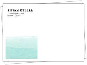 Modern Ombre Watercolor Wedding Envelope