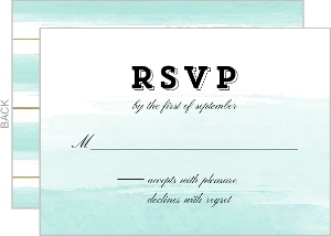 Modern Ombre Watercolor Wedding Response Card
