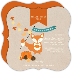 Sweet Little Fox Baby Shower Invitation