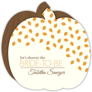 Whimsical Autumn Leaves Bridal Shower Invitation