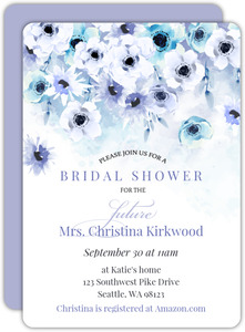 Watercolor Anemones Bridal Shower Invitation