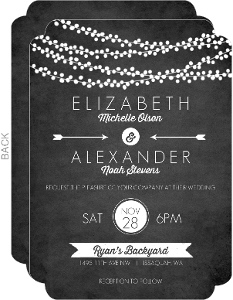 Rustic String Lights Wedding Invitation