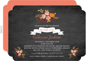 Chalk Foliage Banner Bridal Shower Invitation
